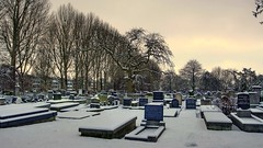 Graveyard in Winter,Groningen stad,the Netherlands,Europe (Aheroy(2Busy)) Tags: city trees winter snow holland netherlands dutch graveyard architecture landscape fun town europe colours different cemetary arts nederland surreal hallucination groningen stad beautifull tonemapped singlerawhdr aheroy aheroyal beautifulgroningen