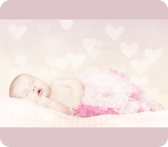 Kayleigh (Samantha Nicol Art Photography) Tags: old pink portrait baby cute art texture girl studio hearts photography nikon sweet stripes 7 frame asleep samantha weeks prop tutu nicol
