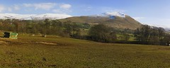 Knock's Landscape (Jonathan.Russell) Tags: uk blue trees england sky panorama white mountain snow mountains green grass rural canon lens landscape countryside sheep farm yorkshire united north kingdom panoramic kit agriculture northern knock dales penines 40d applebyinwestmorland