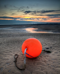 Sunrise Bouy (visions101) Tags: uk winter sea holiday snow seascape english beach canon landscape coast town seaside norfolk wells windmills next huts coastal lee nd british 28 filters grad 70200 2470 5dmkii