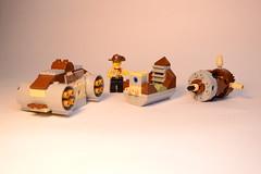 Johnny Thunder's Rocket 3 (rioforce) Tags: brown building lego space awesome bricks creation modular johnny sideburns rocket fedora mustache mmog thunder buildin steampunk johnnythunder legouniverse rioforce modularbuild