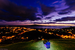 Mountain Top 迎 (Mr F Ding) Tags: longexposure newzealand night clouds lights nikon colours auckland northshore 1224f4 vsco