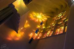 Spirit of Gaud (manphibian) Tags: barcelona light church monument glass architecture spain barca cathedral basilica stained spanish gaudi sagradafamilia sagrada catalan famila cataluna