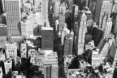 New York 1999 (Ron van Zeeland) Tags: blackandwhite usa newyork monochrome skyline buildings skyscrapers manhattan 1999 twintowers