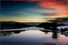 Pond Markovka ... our Mediterranean sea! (piontrhouseselski) Tags: winter sunset lake snow water evening cz moravia