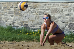 Never Give Up (Beach Volleyball.) Tags: summer portrait woman beach girl sport canon athletic sand digging may beachvolleyball 7d volleyball athlete dig nevergiveup ef135mmf2lusm