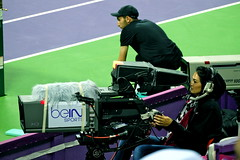 BeIn camera woman (maddalena monge) Tags: tv aljazeera beinsport