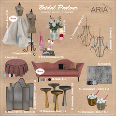 Bridal Parlour @ The Arcade (Aria/ Yelo Uriza) Tags: pink roses classic modern bride champagne arcade parlour bridalwedding aria thearcade thearcadesl girlydressform