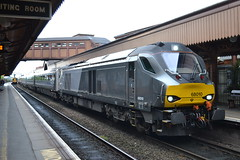 Direct Rail Services 68010 (Will Swain) Tags: birmingham moor street 19th may 2016 train trains rail railway railways transport travel uk britain vehicle vehicles england english west midland midlands city centre direct services 68010 chiltern drs class 68
