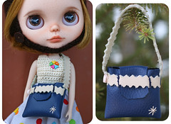 Shop update (zsofianyu) Tags: blue red art leather shop bag real toy for miniature store beige doll body sale handmade unique ooak navy barbie craft purse bow strap pullip blythe neo etsy custom handbag takara seller licca tomy fa adoption artistry riginal
