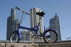 Blue & Buildings (martin diez) Tags: argentina bike bicycle buenosaires bicicleta puertomadero foldingbike martindiez