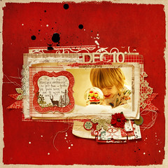 DEC 2o10 (ania-maria) Tags: christmas winter red ball scrapbooking layout holidays december child memories son lo prima annamaria scrap 2010 designteam primamarketing aniamaria