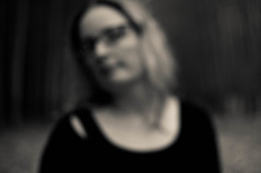 words, like eyeglasses, blur everything that they do not make clear (heathre) Tags: trees bw blurry sp randomquote blartsy noticingatrendtowardtheheadtilt
