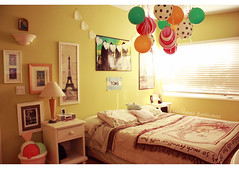 My Room. (sharpliketeeth) Tags: paris balloons poster hearts lace room decoration toms