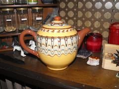 (cinder & smoke) Tags: art ceramic tea aztec tribal teapot earthtones