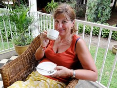 Anyone for tea? (copperbottom1uk) Tags: woman smile tea