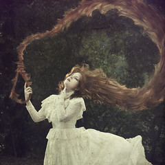 Fairytale Ending (KatB Photography) Tags: selfportrait female fairytale dark hair death dress victorian longhair manipulation rope macabre rapunzel noose nikond60 photoshopcs5