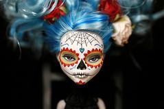 Not long for this world (Kittytoes) Tags: dayofthedead skull doll sugar diadelosmuertos custom calavera melancholykitties ghoulia monsterhigh