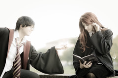 James Potter & Lily Evans (Streg@tto) Tags: italy comics james evans italia lily cosplay harry potter games lucca 2011
