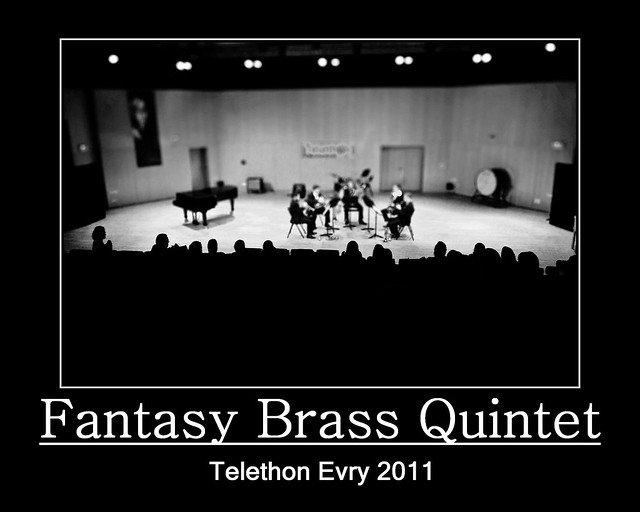 Evry Daily Photo - TELETHON Evry 2011 - Concert Fantasy Brass Quintet 8