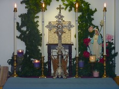 Altar for the Solemnity of the Immaculate Conception of the Most Blessed Virgin Mary. ( -*- RhOn -*-  ||o||) Tags: