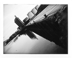 The Docks (kittacabe) Tags: camera ireland docks polaroid fuji 420 automatic land instant peel fp louth apart dundalk 100b