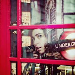 Week 49  London Calling (Ana Lusa Pinto [Luminous Photography]) Tags: cambridge england london girl booth underground subway phone tube week49 52weeks 4952 52w luminouslu analusapinto