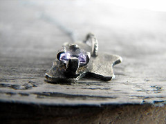 Violet Autumn Sterling Silver Necklace (neSHEn Design) Tags: autumn silver necklace leaf purple handmade violet jewelry metalwork amethyst minimalist artisan pendant metalsmith
