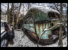 Snowy Decay [Explored] (Derelict Compositions) Tags: auto old ontario canada cars abandoned nikon decay tokina milton hdr wreckers mcleans d700