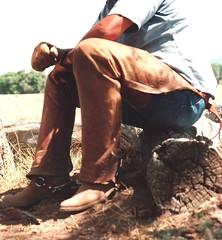 COWBOY GEAR (AZ CHAPS) Tags: ranch spurs cowboy boots gloves chaps wrangler