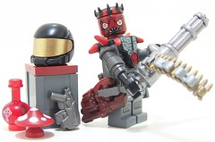 Alien Mercenary (Silenced_pp7) Tags: brick mushroom gold star starwars ancient arms lego space alien mini creation darth pirate figure warriors wars minifig forge custom vignette maul minigun minifigure moc mercenary jfsc brickarms brickforge minifigcat brickwarriors