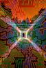 (quornflake) Tags: longexposure trees orange lightpainting man night weird woods tunnel surrey lighttrails trippy farnham digitallightwand