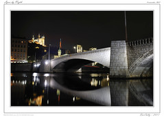 Lyon by Night (BerColly) Tags: bridge light france night river lyon riviere lumiere pont nuit rhonealpes saone