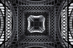 Up Up Up! (almonkey) Tags: paris france tower metal french nikon iron steel eiffeltower landmark icon symmetry handheld symmetrical ironwork gustaveiffel hdr 1889 worldfair 5xp d700 supersymmetry