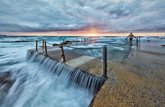 Ponderous (James.Breeze) Tags: ocean seascape beach water swimming sunrise landscape rocks raw waves seascapes cloudy sydney australia nsw swimmer breeze tidalpool saltwater northernbeaches beachsunrise bestofaustralia jamesbreeze canonef14mmf28liiusm ef14mmf28liiusm