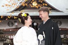 Us (Mongwau) Tags: family wedding japan japanese groom bride shrine joel ceremony notbyme naomi hakama  kimono  sumiyoshi yamanashi  kofu