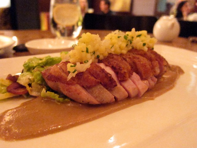 duck breast with FOIE GRAS sauce