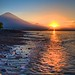 Sunset with Mount Agung in Amed, Bali