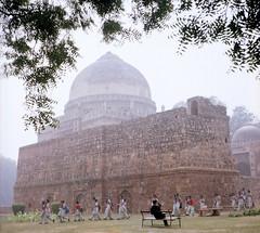 Delhi Park 11 (chuckyccs) Tags: park old india colour film home temple delhi ii agfa developed isolette