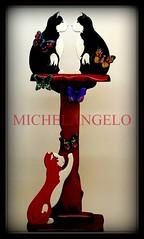 MIAOOOO (MESCIU CERASA) Tags: italy foto arte bambini miao michelangelo abete puglia gatti animali vieste legno artistico attaccapanni gargano dipinto artigianato tiglio mogano artigianatoartistico artigianatoitaliano musciucerasa
