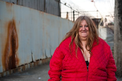 Diane on Christmas eve: Hunts Point, Bronx (Chris Arnade) Tags: newyorkcity point bronx prostitution prostitutes addiction hunts huntspoint chrisarnade facesofaddiction httpwwwhpac10474orgyoucanhelp