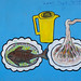 Restaurant Advertisement Painted Sign Fish And Noodles Somaliland