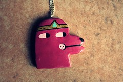 IMG_4215 (Papuzzini Smellow) Tags: dog ecology illustration necklace funny handmade milano crafts craft jewellery polymerclay fimo gifts fantasy gift pendant cernit collana smellow papuzzini