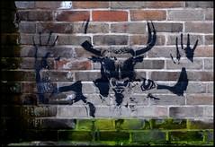 Goat god? - 101_0932a (normko) Tags: street london art graffiti hands stencil pub mural grafitti er goat spray anchor aerosol bankside