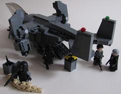 DARKWATER Talon Dropship Loading Ramp (Andreas) Tags: lego talon darkwater vtol dropship legomilitary