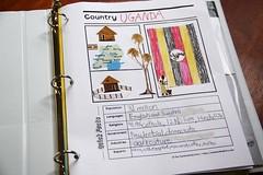 Uganda notebooking page