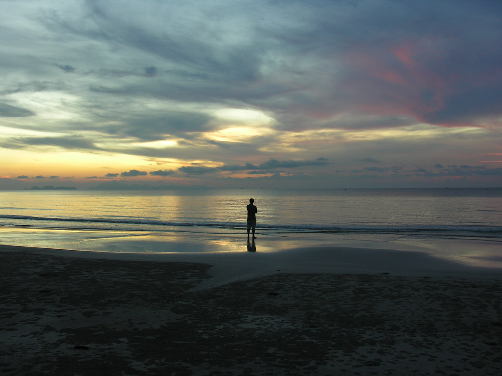Guy on the beach, Ko Tarutao, Satun, Thailand