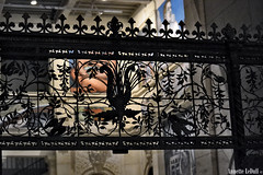 Floral Grille (Annette LeDuff) Tags: light shadow black art floral silhouette metal stone contrast mural gate pattern wroughtiron carving staircase repetition diegorivera girlpower grille ironwork railing flickrcentral favorited ruby3 detroitinstituteofarts detroitindustry flickrtoday thegalaxy riveracourt flickraward metallicobjects myspecialgallery irondetails detalhesemferro qualitysurroundings photoannetteleduff annetteleduff silhouettegroup 12302011 twozweideuxduedva2