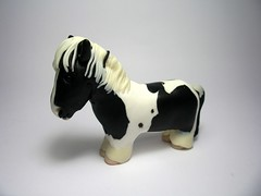 Wee Synbad (QuernusCrafts) Tags: horse black piebald pinto polymerclayquernuscraftscute whitecommission
