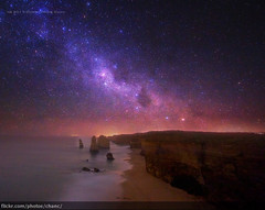 Milky Way over the Twelve Apostles, Victoria (Christopher Chan) Tags: canon stars australia victoria astrophotography 7d greatoceanroad twelveapostles 1022mm milkyway